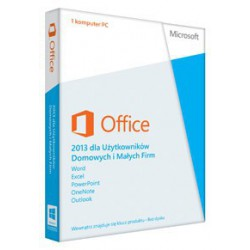 1 x MS Office 2013 dla Małych Firm i Użytkowników Domowych PL - 2019 cena 2016