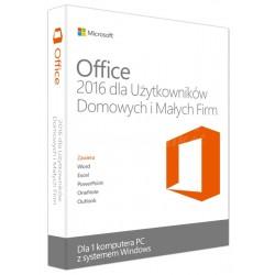 1 x MS Office 2016 dla Małych Firm i Użytkowników Domowych BOX PL 32/64 bit
