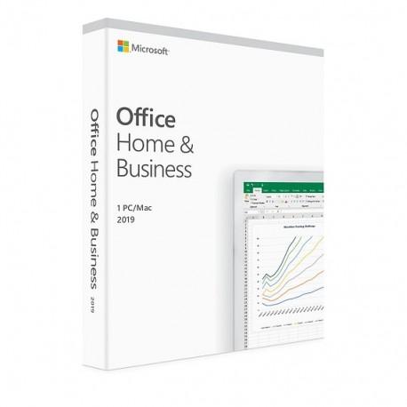 1 x MS Office 2019 dla Małych Firm i Użytkowników Domowych BOX PL dożywotnia - cena na system MS Windows 10 lub na Mac