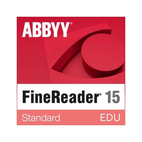 ABBYY FineReader Standard wersja 15 dla Szkół i Edukacji dla Windows - licencja dożywotnia - pojedynczy użytkownik cena PL sklep